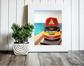 Southernmost Bouy 11 x 14 Matte Print Key West Florida Southernmost Point