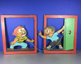 Wooden Cutouts/ Boy Pulling Teeth
