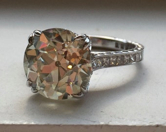 "Vintage Diamond Ring Setting - ""Farrah"" by JYB Jewels 1.5ct OEC Moissanite"