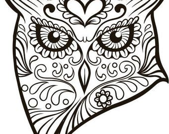 Owl Heart SVG