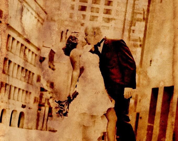 Vintage Portrait 2nd Anniversary Cotton Anniversary 1st Anniversary Gift For Couple Photo Gift Custom Canvas Wedding Anniversary 20x24