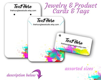 Custom Earring Cards   Watercolor Jewelry Cards   Tags   Jewelry Display   Earring Cards    Cards For Jewelry   Custom Tags   Display