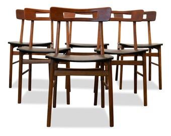 Vintge teak dining/keukestoelen (6)