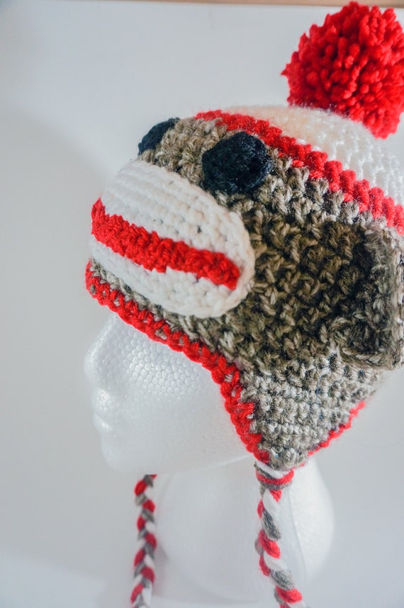 How To Knit A Baby Monkey Hat Up
