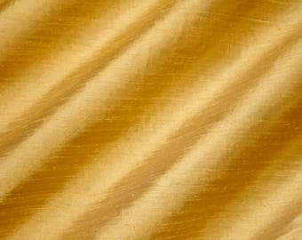 BUCKSKIN 2049-1D -  Pure Silk Dupioni Fabric - Handwoven By the Yard