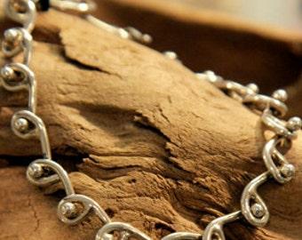 Wave & Ball Bracelet