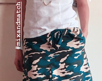 the camouflage chic skirt