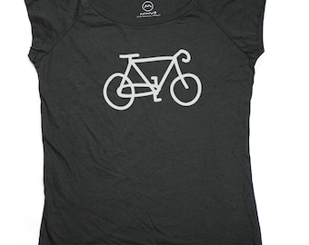 Ninus - Bicycle, Hand-printed Bamboo Women's T-Shirt