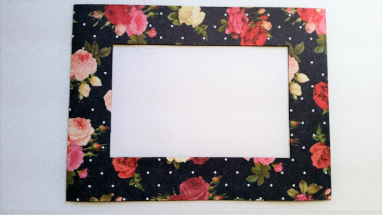 Roses Magnetic Refrigerator Photo Frame Magnet. Will fit a