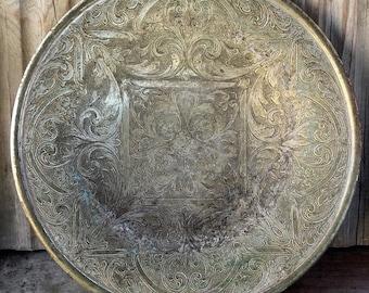 Decorated vintage Dish