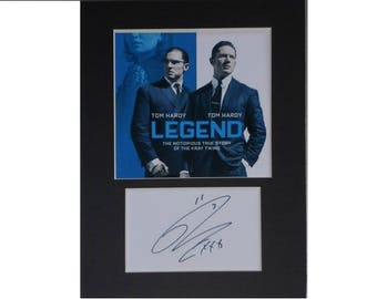 Photo print Tom Hardy (Krays) printed signed autograph 8x6 inch mounted display