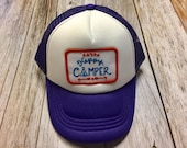 "Girls Toddler/Kid Purple Trucker Hat with ""Happy C..."