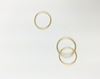 14K Gold Thin Wire Band