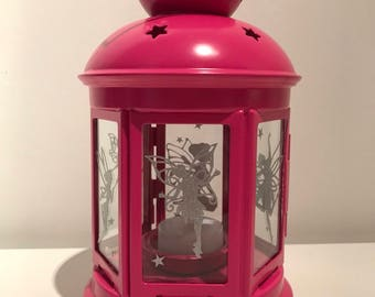 Fairy Tealight Lantern, Pink, Outdoors, indoors, colour changing LED Tealight