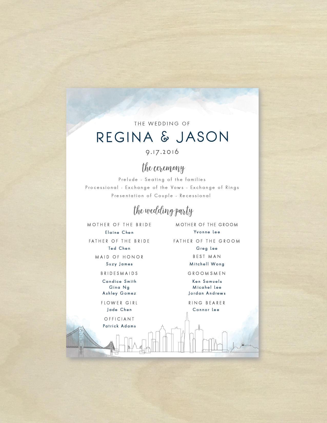 Großartig Einzigartige Hochzeitsprogramm Vorlagen Bilder ...