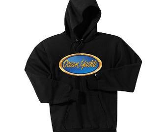 Ocean Yachts Black Hoodie Sweatshirt