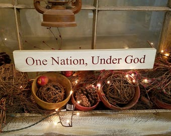 One Nation under God (red lettering)