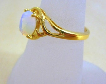 Opalit ring GOLD Filled ring  thin gold ring gift for her gold jewelry for women
