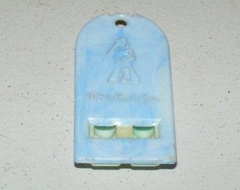 Vintage Cracker Jack Swirly Blue Whistle Prize Premium