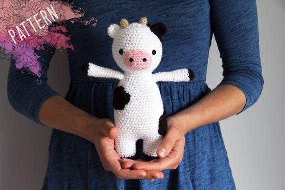 Amigurumi Cow Crochet Pattern Cuthbert The Cow