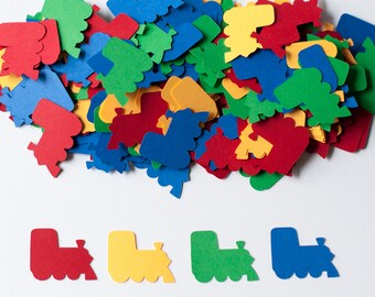 Train Confetti, Boy Birthday Confetti, Transportation Birthday Party, Party Decor