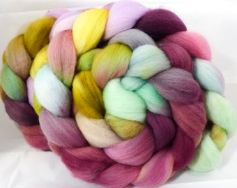 Hand dyed Falkland top for spinning -Riviera (4.9 oz.)