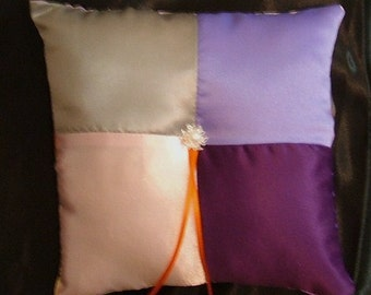 ring bearer pillow custom made any multi color choose your own color pillow