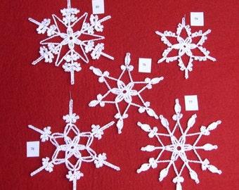 PDF Crocheted Snowlake Patterns - SALE- YOU Choose 10 sets