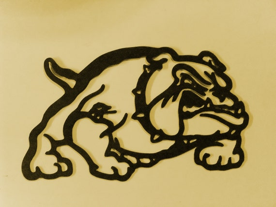 Bull Dog Metal Art Wall Decor Bulldog metal art Bulldog