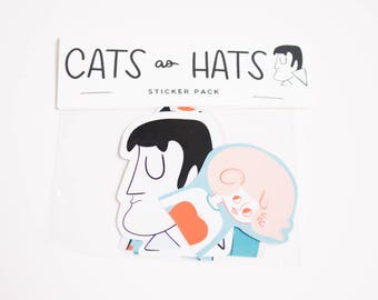 Cats as Hats Stickers / Cat Stickers / Funny Cat Stickers / Cat Sticker / Cat Sticker Set / Cats Sticker Set / Cat Sticker Set / Cat Sticker