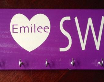 Peace Love Swim Ribbon Display Board