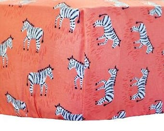 Zebra Parade Coral Crib Baby Bedding | Crib Sheet