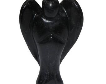 5cm black Obsidian Angel figurine