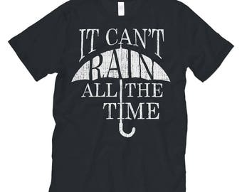 """The Crow (Movie) TShirt. Black / White - Mens / Womens Unisex Jersey Short Sleeve Tee """"It Can't Rain All The Time"""" Graphic Print Shirt"""
