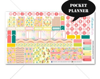 Pineapple MONTHLY Planner Kit / Pocket Planner Stickers / Sew Much Crafting / Monthly Sticker Kit #SQ00286-Pocket