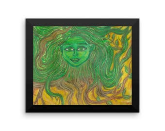 Branching Out: A Dryad in Spring, Framed poster
