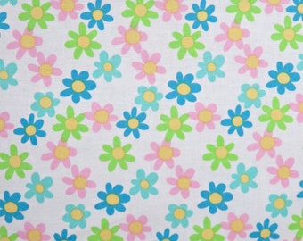 White Flowers Floral David Walker Tea Party Free Spirit Fabrics #612 By the Yard
