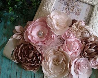 Maternity sash belt, Handmade flower, maternity photo sessions