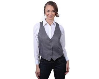 Women's Heather Grey Fashion Vest
