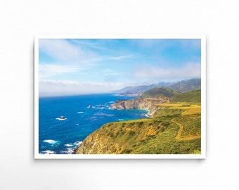 Big Sur, Landscape, Printable, Wall Art, Ocean, Beach, Nature, California, Coast, Travel, Scenery, Adventure, Explore, Digital Download, Sun