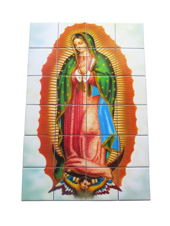 Religious Wall Art Virgin Of Guadalupe Religious Tile