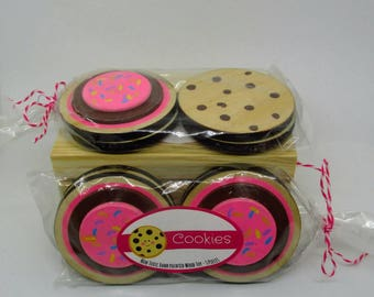 4 Cookies - Wooden Play Food
