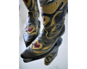 Horses made in Italy/shoes Angels/Vintage 90s/Cowgirl boots/Designer/size 37/Size UK women 4/size US women 6.5