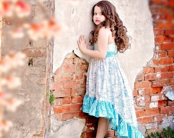Teen Girl Dress - Vintage Inspired Dress - Hi-Low Dress - Pictures - Photoshoot - Special Occasion - Formal Dress - Party - Dance - Tween