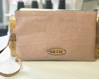 Light Pink Cork Essential Oil Bag