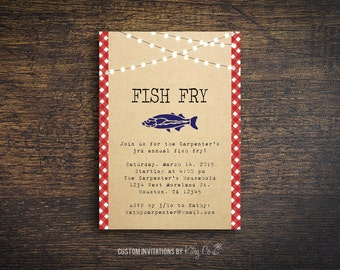 Fish Fry Invitation | BBQ | Printable Digital File