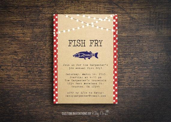 Fish Fry Invitation BBQ Printable Digital File