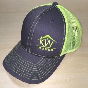 Monogram Richardson Hat. Richardson Mesh Cap. Monogram Cap with Mesh Backing.