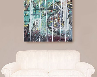 Abstract Expression, African American Art, Canvas Art, Canvas Wall Art,Home Decor Art, Canvas Painting,Abstract Art, Wall Art