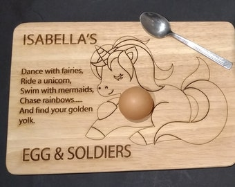 personalised egg board, egg and soldiers, dippy egg, personalised gift, easter, egg and toast, breakfast, boy, girl, engraved egg board, egg